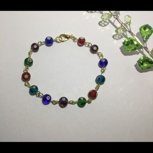 Multi color evil eye bracelet